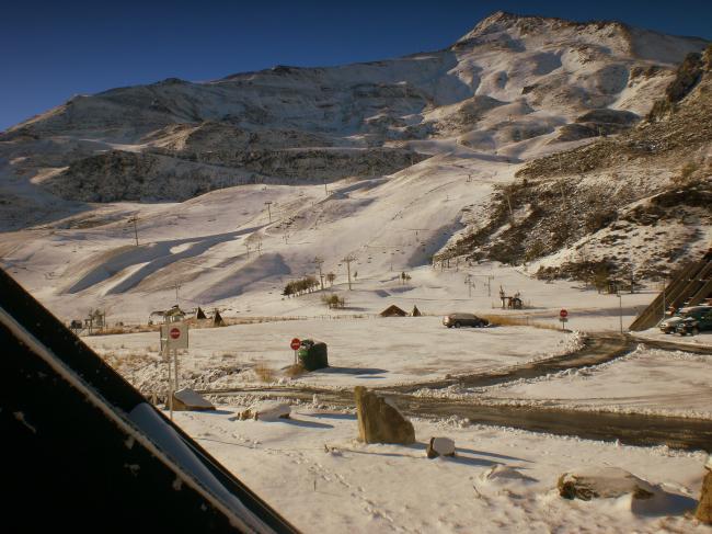 vue sur les pistes de la terrasse